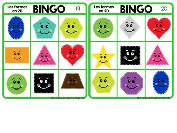 2D Geometry Bingo Game in French