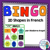 2D Geometry Bingo Game in French