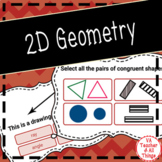 2D Geometry (Polygons) Boom Cards SOL 3.11 3.12 3.13