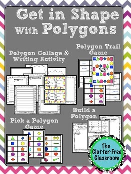 GEOMETRY ACTIVITES | POLYGONS | 2D SHAPES | GEOMETRY MATH GAMES | MATH CENTERS