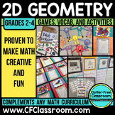Geometry Activities Games and Centers for 2D Shapes and Po