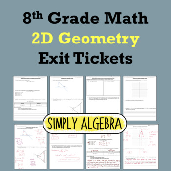2D Geometry Exit Tickets