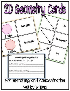 2D Geometry Matching Cards