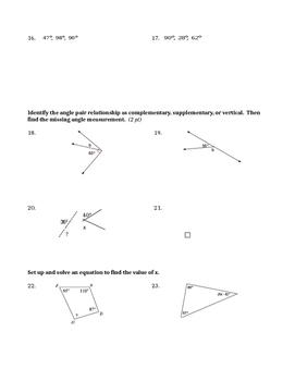2D Geometry Quiz