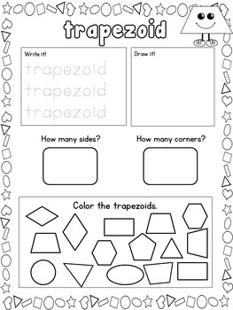 2D Shapes Geometry Printables