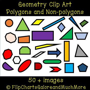 2D Geometry Shapes - Polygons vs. Nonpolygons - Math Clip art 50+ Images
