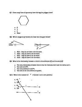 2D Geometry Test