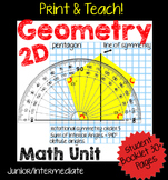 2D Geometry Unit, Constructing Shapes NO PREP