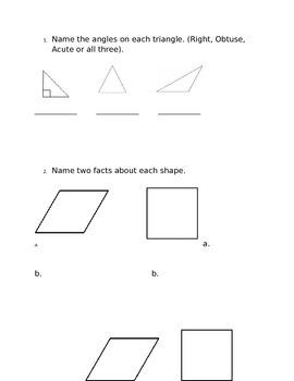 Geometry and Measurement Assessment *Editable