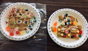 2D Gingerbread Houses for Kindergarten!