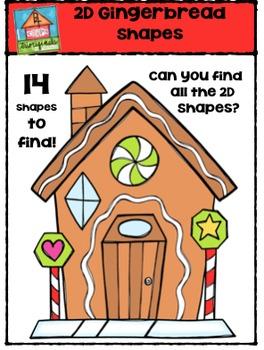 2D Gingerbread Shapes {P4 Clips Trioriginals Digital Clip Art}G