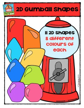 2D Gumball Shapes {P4 Clips Trioriginals Digital Clip Art}
