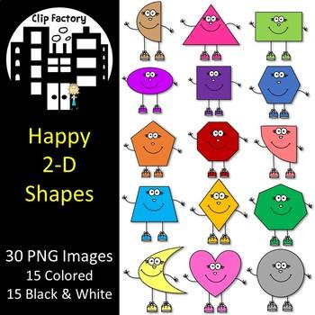 Happy 2D Shapes