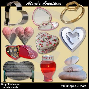 2D Heart Shapes Real Photo Clip Art