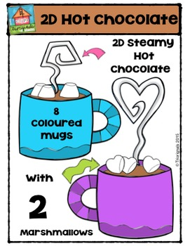 2D Hot Chocolate Shapes  {P4 Clips Trioriginals Digital Clip Art}
