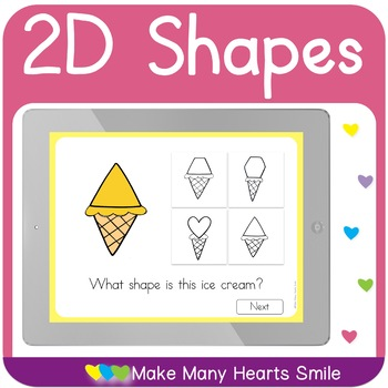 2D Ice Cream Shapes Interactive Pdf