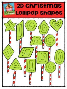 2D Christmas Lollipop Shapes {P4 Clips Trioriginals Digital Clip Art}