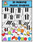 2D Making Music Shapes {P4 Clips Trioriginals Digital Clip Art}G