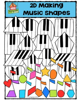 2D Making Music Shapes {P4 Clips Trioriginals Digital Clip Art}G