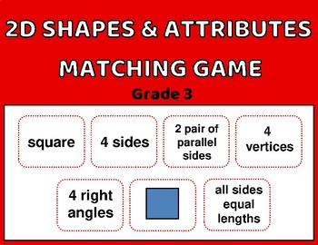 2D Matching Game: name, shape, description