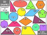 2D Math Shapes (Digital Clip Art)