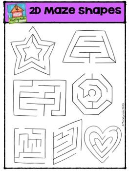 2D Mazes Shapes {P4 Clips Trioriginals Digital Clip Art}G