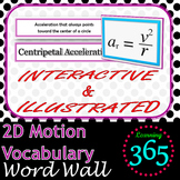 2D Motion Vocabulary Interactive Word Wall