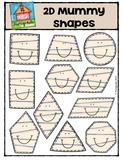 2D Mummy Shapes {P4 Clips Trioriginals Digital CLip Art}