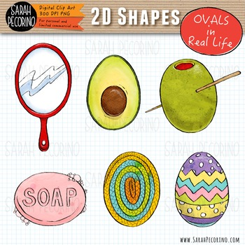 2D Ovals in Real Life Clip Art