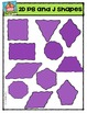 2D Peanut Butter and Jam Shapes {P4 Clips Trioriginals Digital Clip Art}