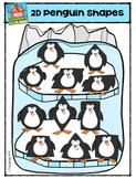 2D Penguin Shapes {P4 Clips Trioriginals Digit