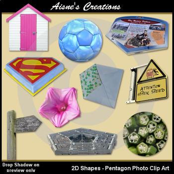 2D Pentagon Shapes Real Photo Clip Art