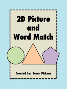 2D Picture and Word Match