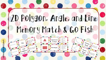 2D Polygon, Angle, and Line Memory Match