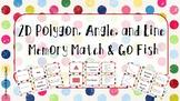 2D Polygon, Angle, and Line Memory Match