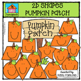 2D Pumpkin Shapes Patch {P4 Clips Trioriginals Digital Clip Art}