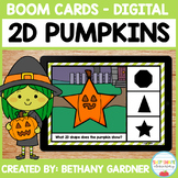 2D Pumpkins - Boom Cards - Distance Learning