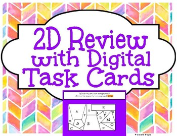 2D Puzzle Review with Digital Task Cards & 2D Digital Creating