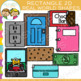 Real Life Objects 2D Shapes Clip Art Bundle