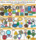 Real Life Objects 2D Shapes Clip Art Bundle {Math Clip Art}