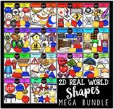 2D Real World Shapes Clip Art Mega Bundle {Educlips Clipart}