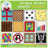 2D Shapes Real Life Objects Clip Art: Squares