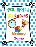 2D Real World Shapes Memory Game