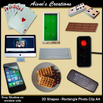 2D Rectangle Shapes Real Photo Clip Art