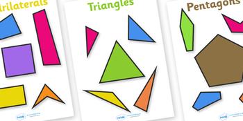 2D Regular and Irregular Shape Posters