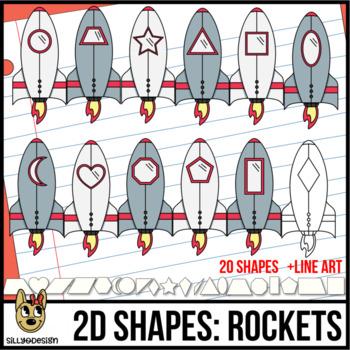 2D Rocketship/Spaceship Clip Art
