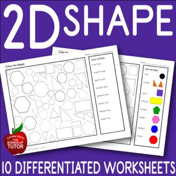 2D SHAPE {worksheets} {plane}