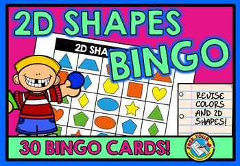FLAT SHAPES GAME: 2D SHAPES BINGO GAME: 2D SHAPES ACTIVITY