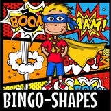 2D SHAPES BINGO- SUPERHERO THEME(FLASH FREEBIE)