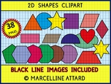 2D SHAPES CLIP ART: GEOMETRY CLIPART: FLAT SHAPES CLIPART: